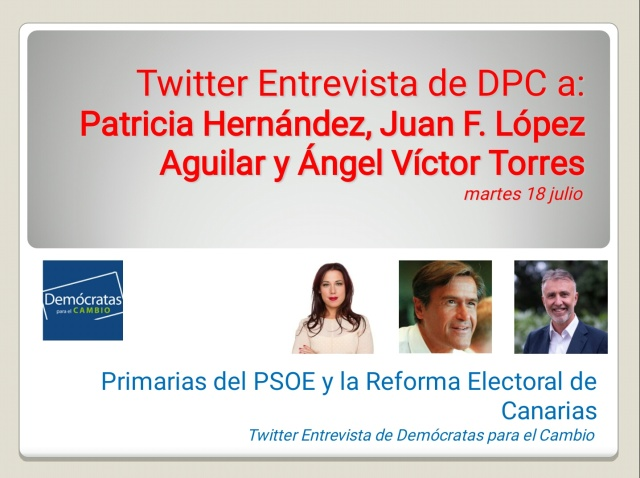 Cartel Diapo Twitter Entrevista PSOE 18 julio 2017
